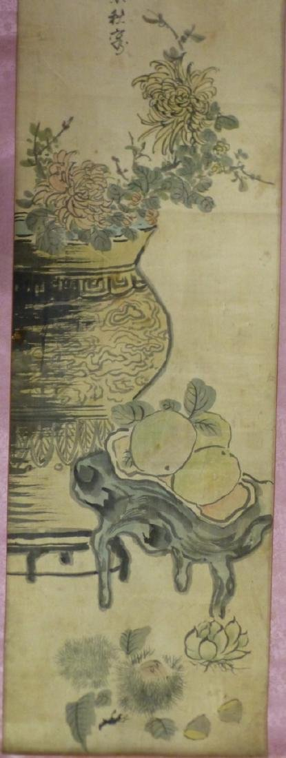CHINESE WATERCOLOR PAINTING SCROLL - 5
