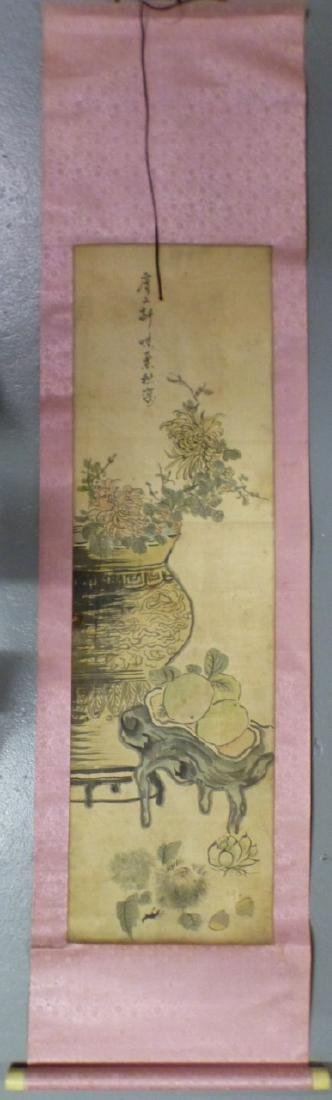 CHINESE WATERCOLOR PAINTING SCROLL - 6
