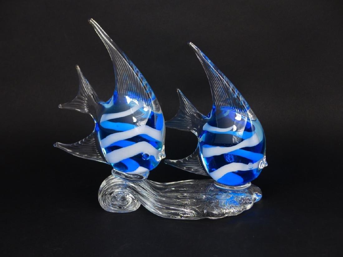 MURANO STYLE ART GLASS ANGELFISH