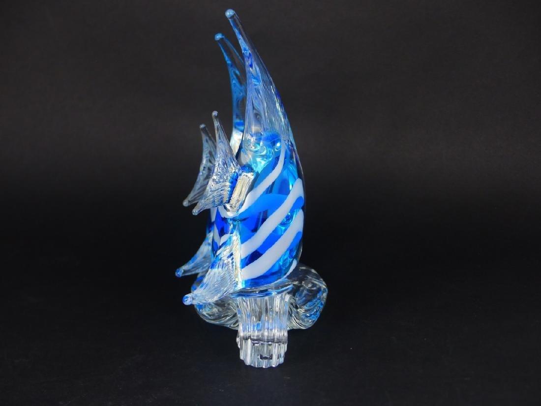 MURANO STYLE ART GLASS ANGELFISH - 2