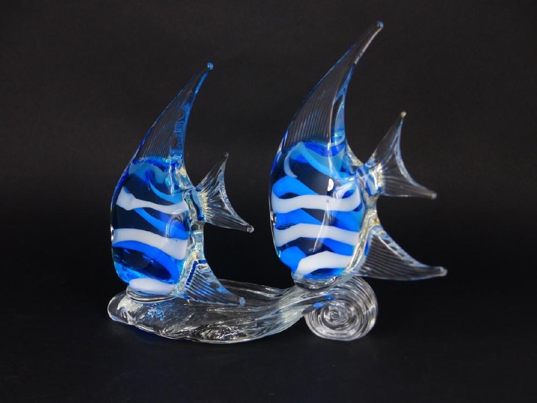 MURANO STYLE ART GLASS ANGELFISH - 3
