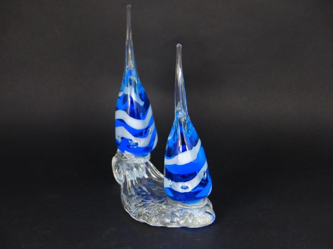 MURANO STYLE ART GLASS ANGELFISH - 4