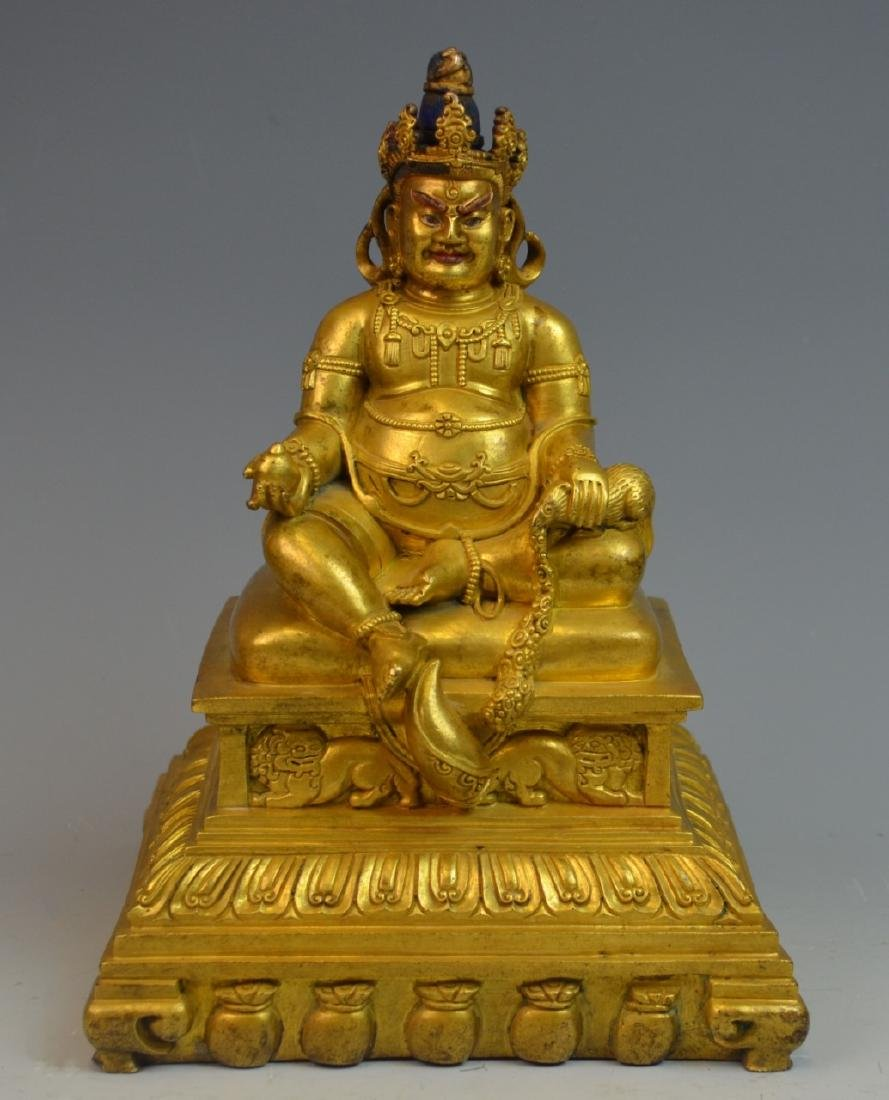 CHINESE GOLD GILT BRONZE BUDDHA STATUE