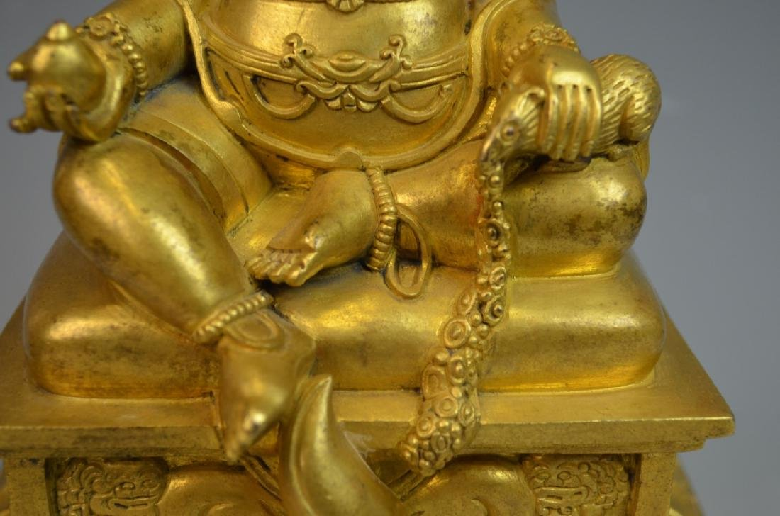 CHINESE GOLD GILT BRONZE BUDDHA STATUE - 4