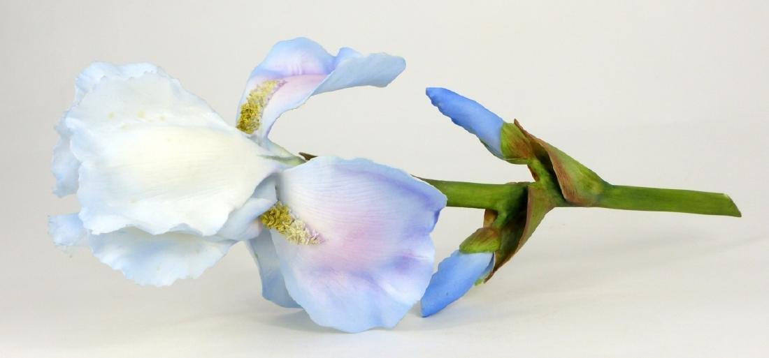 BOEHM PORCELAIN LONG STEMMED IRIS FLOWER - 4