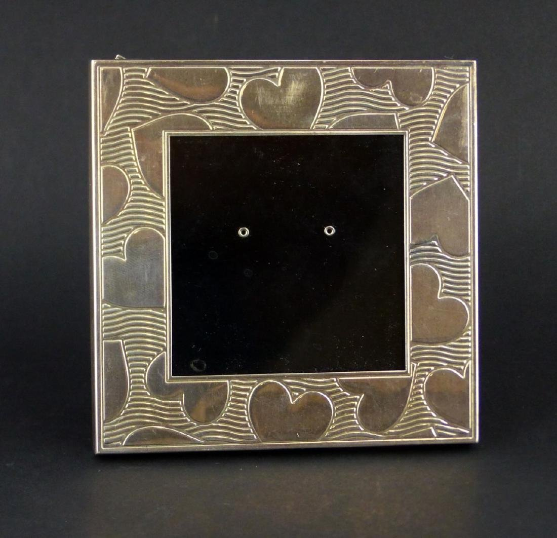 2pc TIFFANY & CO STERLING SILVER PICTURE FRAMES - 2