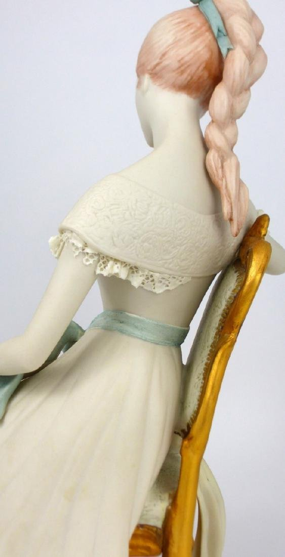 CYBIS PORCELAIN GIRL SEATED IN CHAIR FIGURINE - 6