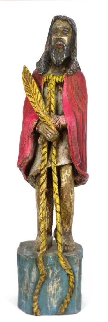 CARVED WOOD SANTOS FIGURE