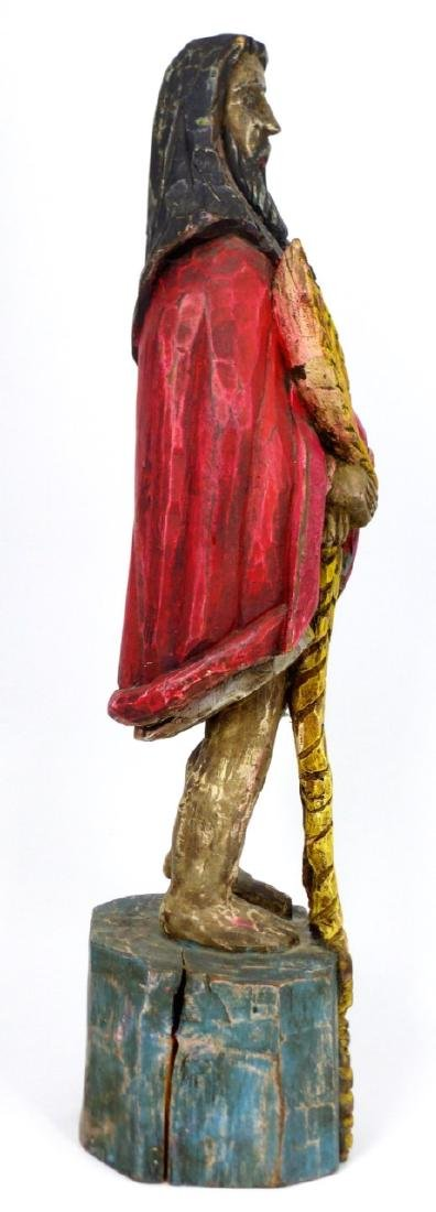 CARVED WOOD SANTOS FIGURE - 2