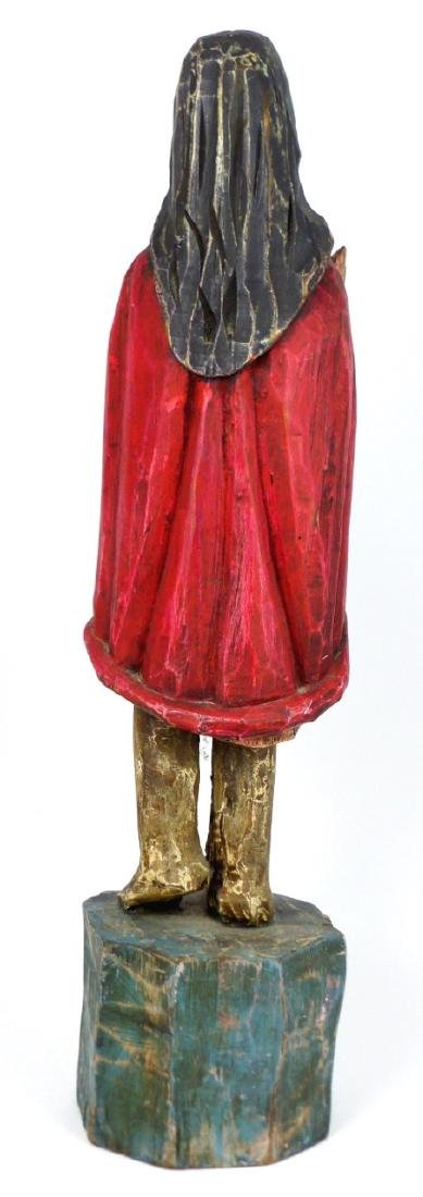 CARVED WOOD SANTOS FIGURE - 3