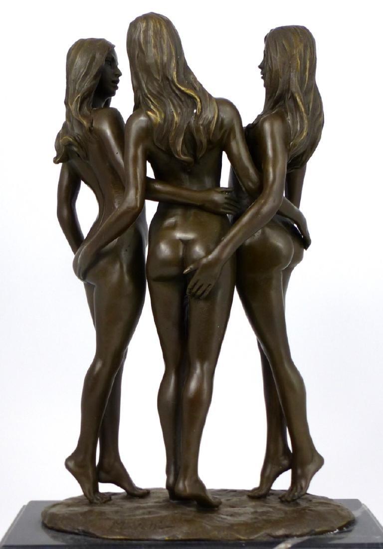 MAVCHI EROTIC BRONZE SCULPTURE OF NUDE WOMEN - 5