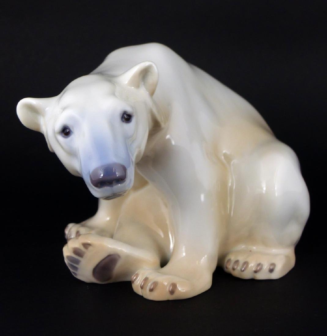 BING & GRONDAHL PORCELAIN POLAR BEAR FIGURINE