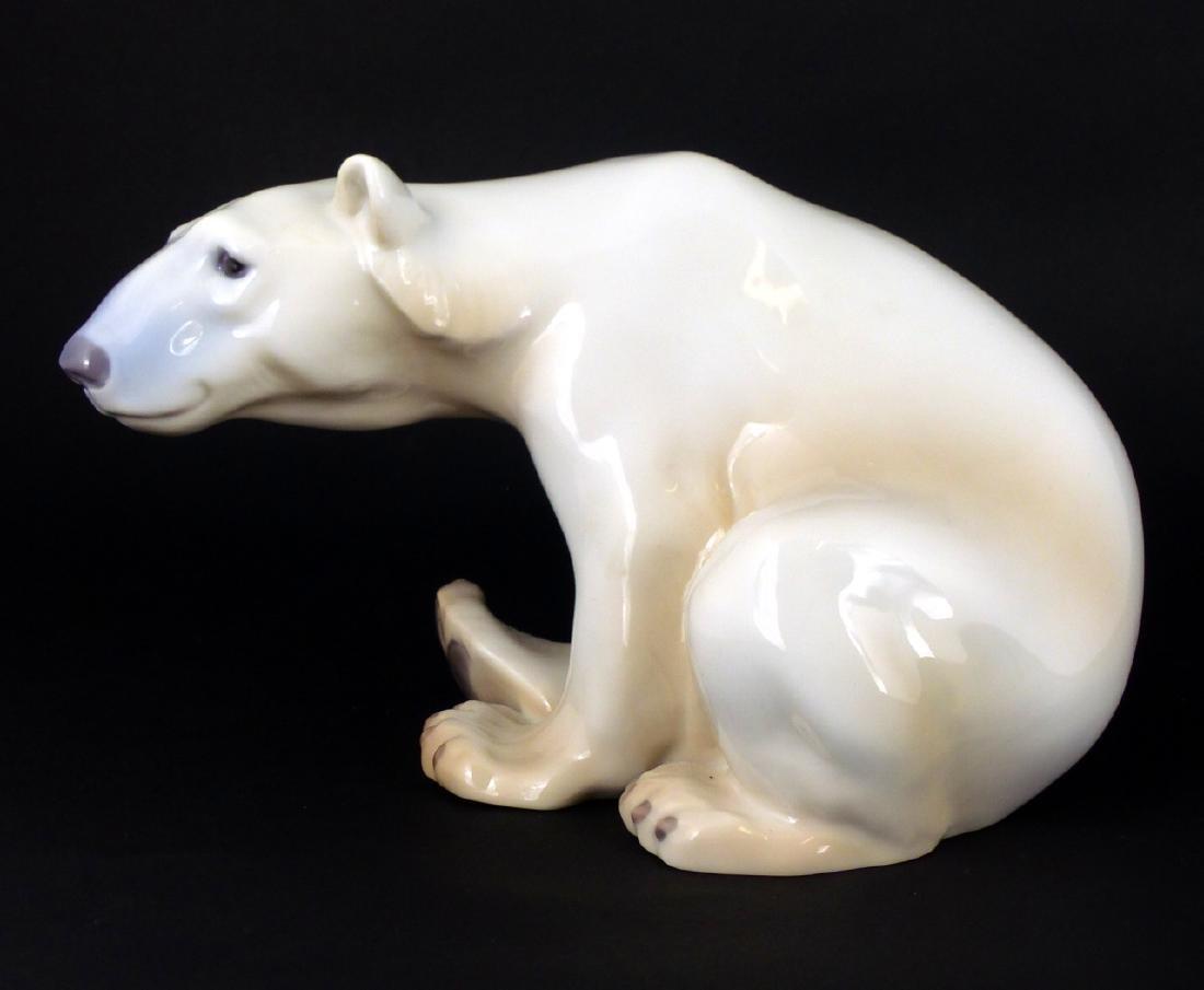 BING & GRONDAHL PORCELAIN POLAR BEAR FIGURINE - 4