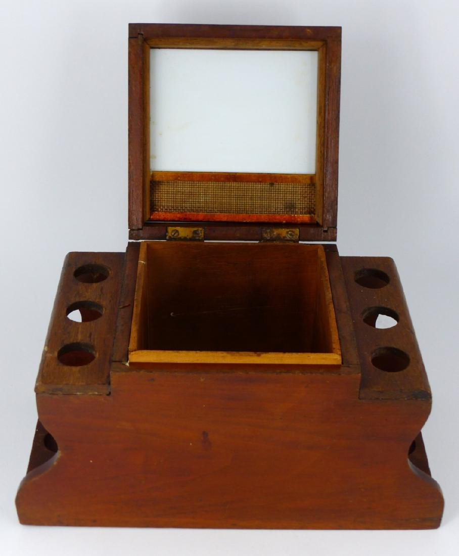 5pc SMOKING ACCESSORIES HUMIDORS & PIPE STAND - 10