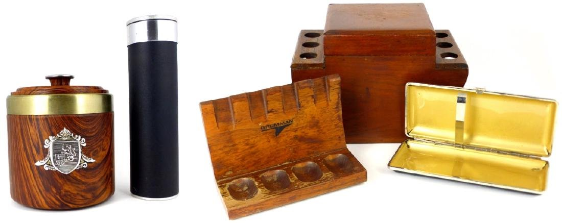 5pc SMOKING ACCESSORIES HUMIDORS & PIPE STAND