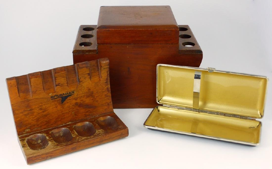 5pc SMOKING ACCESSORIES HUMIDORS & PIPE STAND - 7