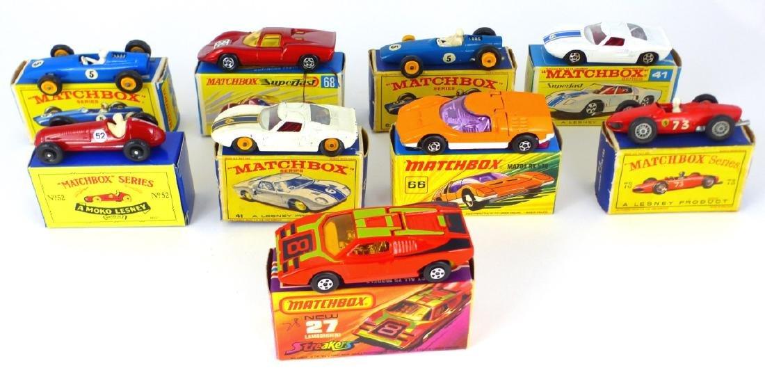 9pc MATCHBOX TOY CARS w BOXES