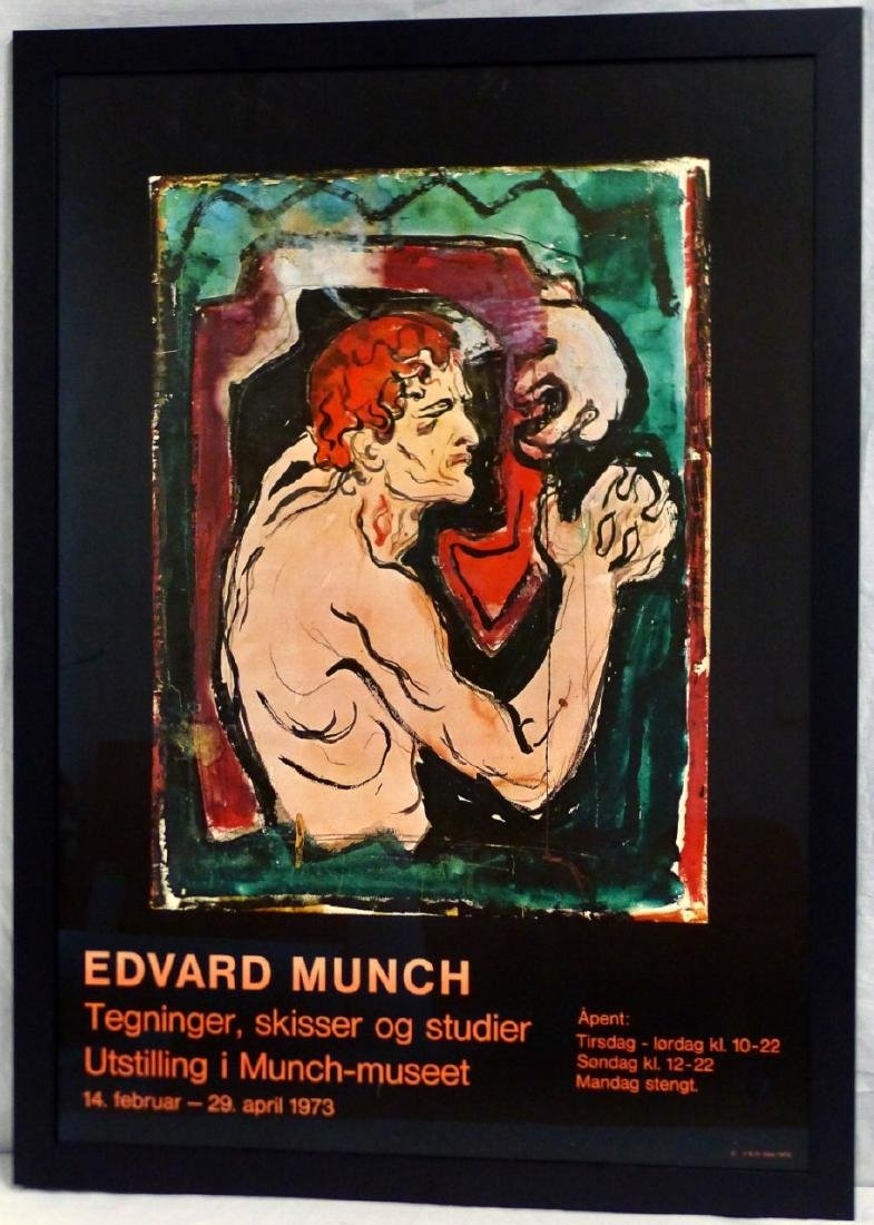 EDVARD MUNCH EXHIBITION POSTER 1973