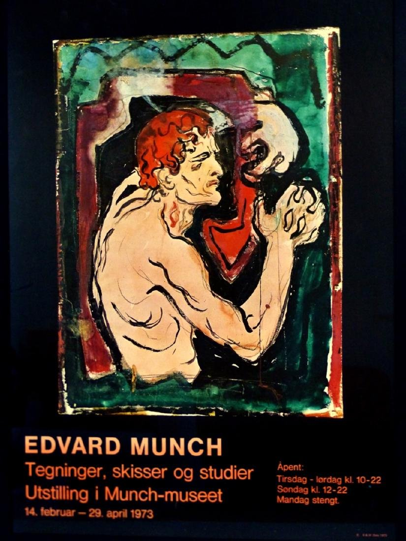 EDVARD MUNCH EXHIBITION POSTER 1973 - 2