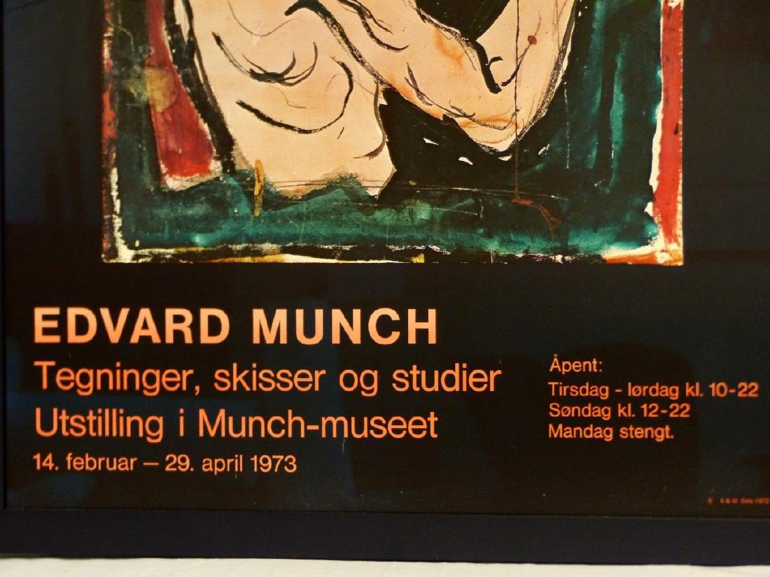 EDVARD MUNCH EXHIBITION POSTER 1973 - 3