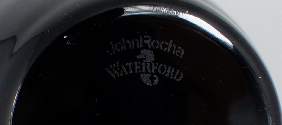2pc JOHN ROCHA WATERFORD BLACK CUT TUMBLERS - 4