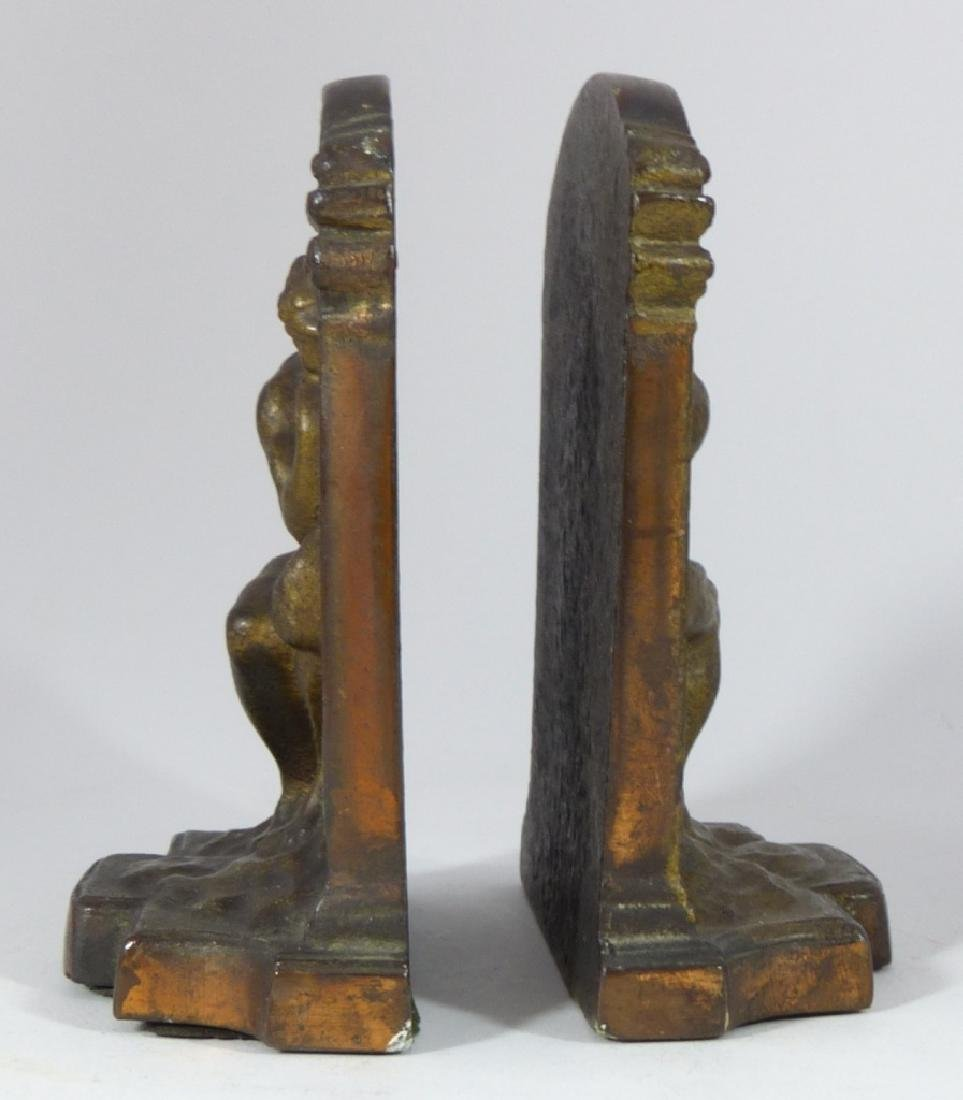 VINTAGE CAST IRON THINKER BOOKENDS - 3