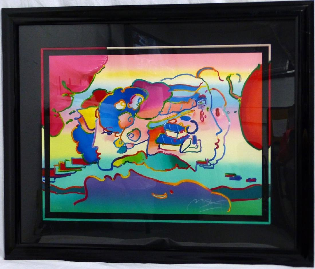 PETER MAX 'THREE FACES' LITHOGRAPH