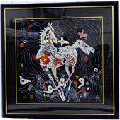 JIANG TIEFENG LITTLE WHITE HORSE SERIGRAPH