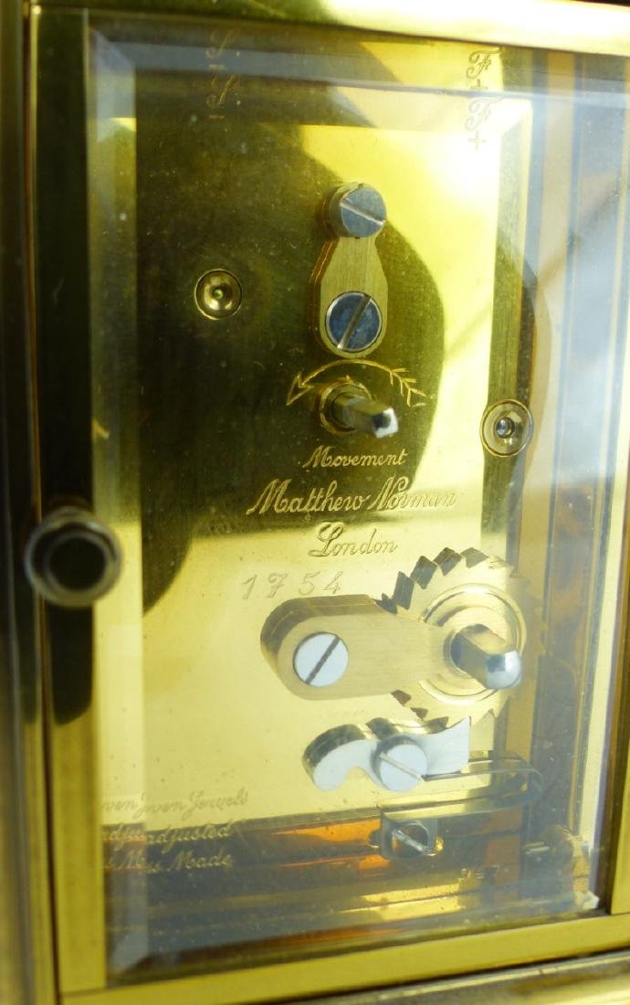 MATTHEW NORMAN TIFFANY & CO BRASS CARRIAGE CLOCK - 6
