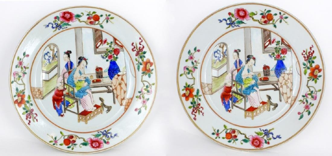 PR CHINESE EXPORT FAMILLE ROSE PORCELAIN PLATES