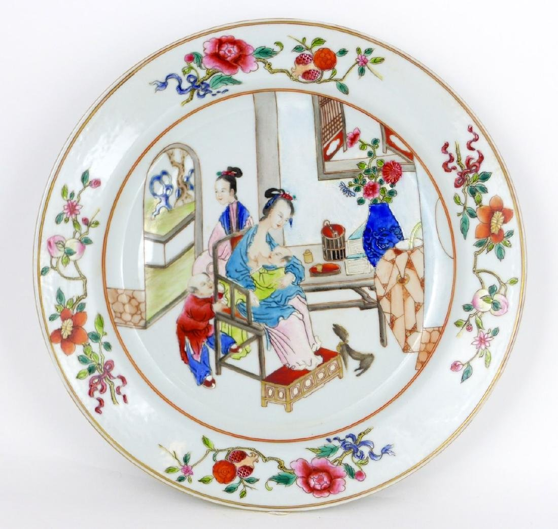 PR CHINESE EXPORT FAMILLE ROSE PORCELAIN PLATES - 2