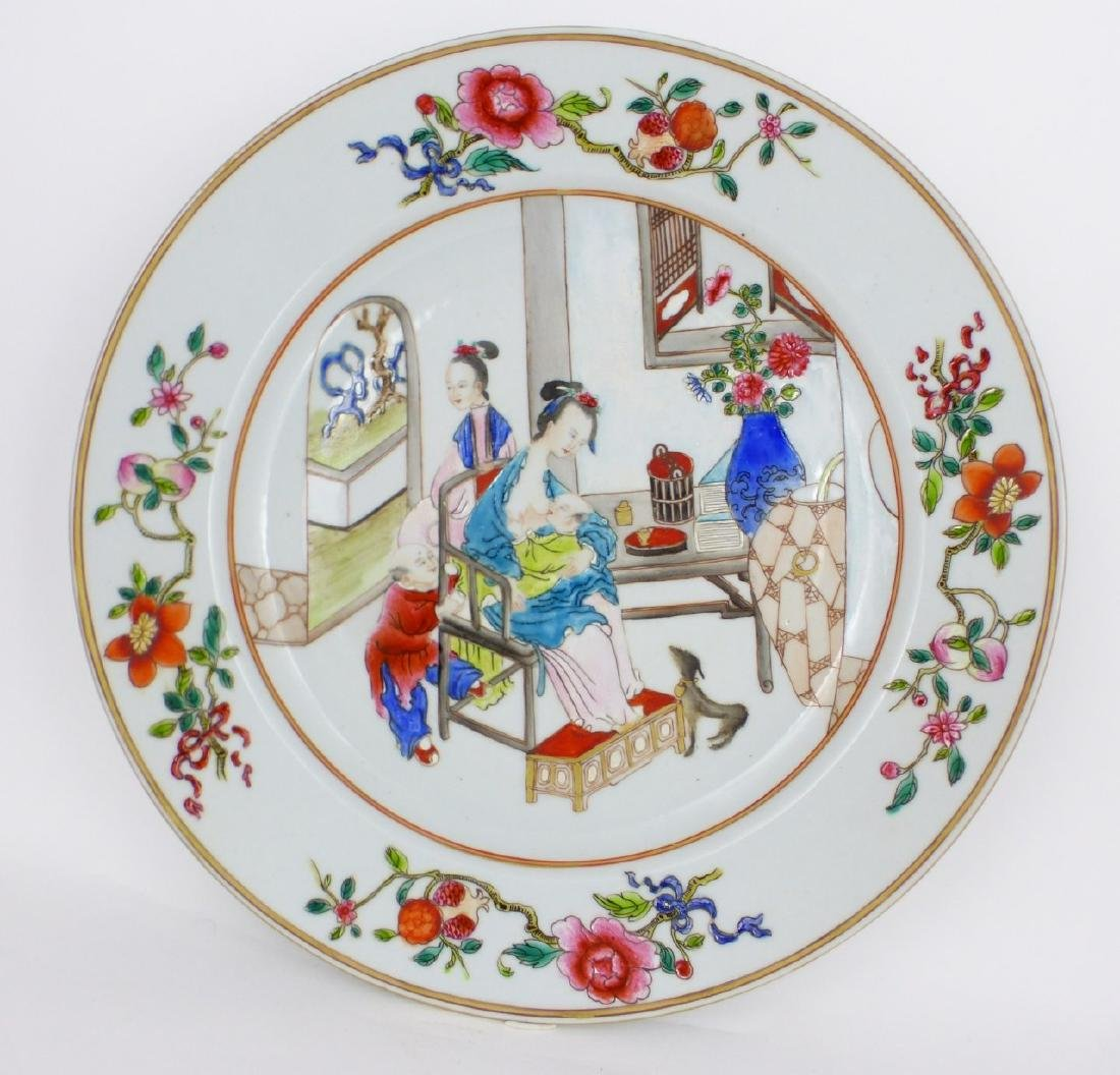 PR CHINESE EXPORT FAMILLE ROSE PORCELAIN PLATES - 5