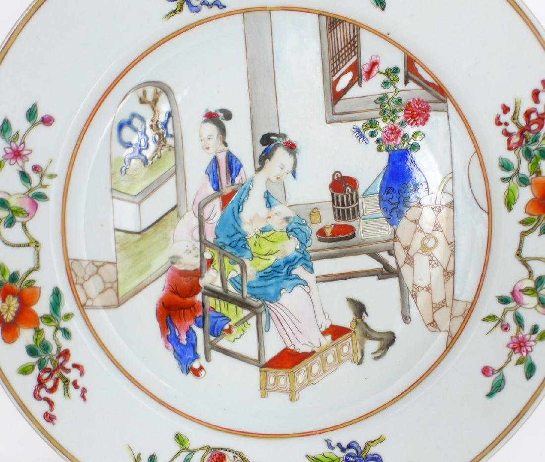 PR CHINESE EXPORT FAMILLE ROSE PORCELAIN PLATES - 6