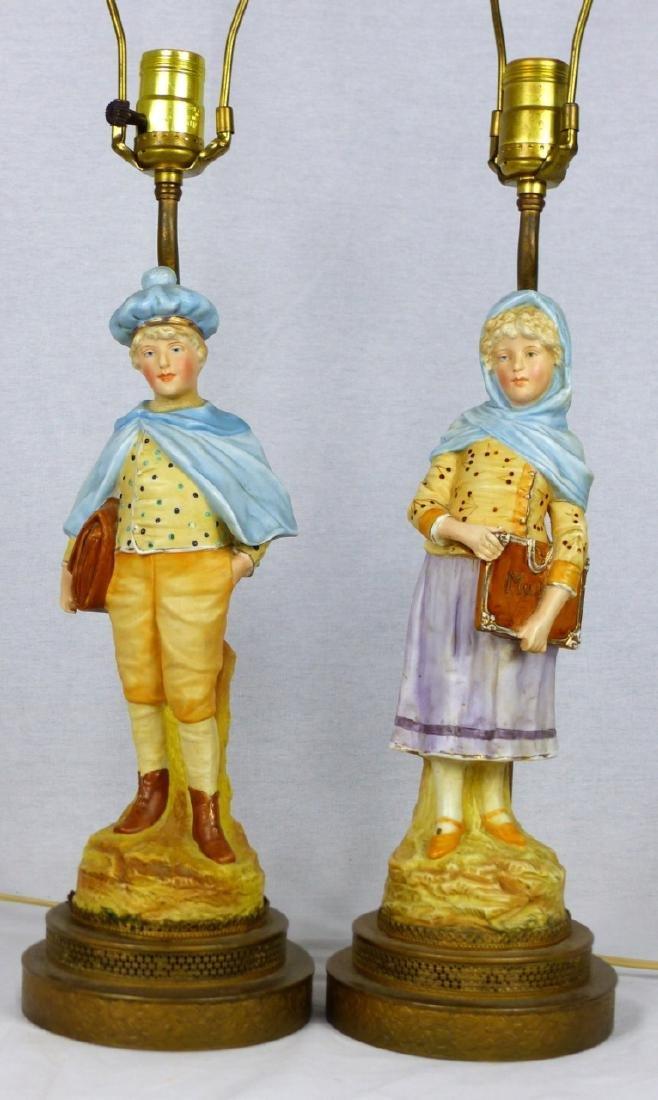 PR PORCELAIN FIGURAL LAMPS