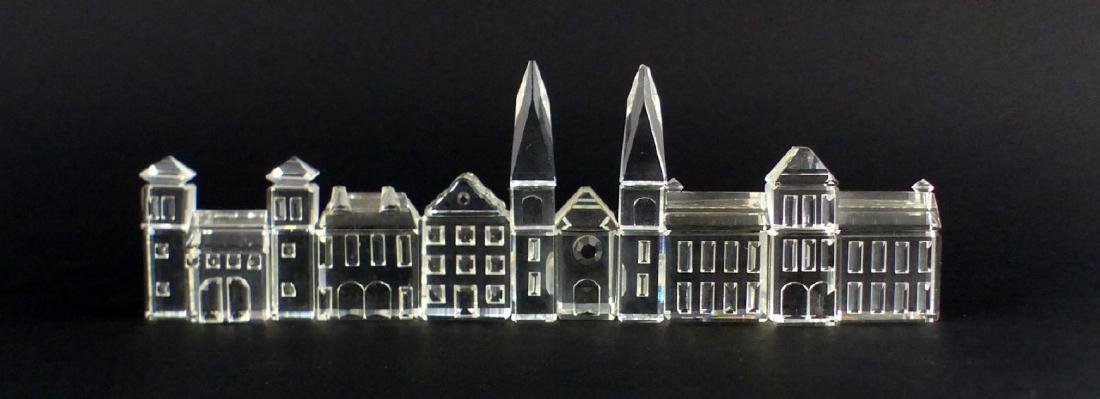 5pc SWAROVSKI CRYSTAL MINIATURE VILLAGE