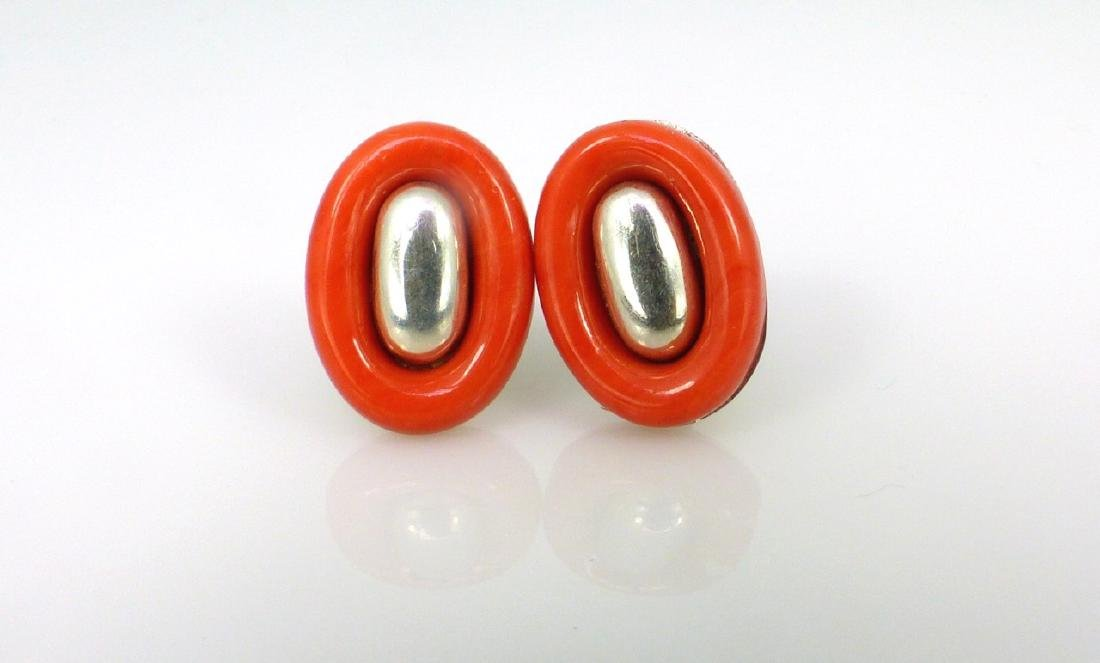 PALOMA PICCASO FOR TIFFANY STERLING CORAL EARRINGS