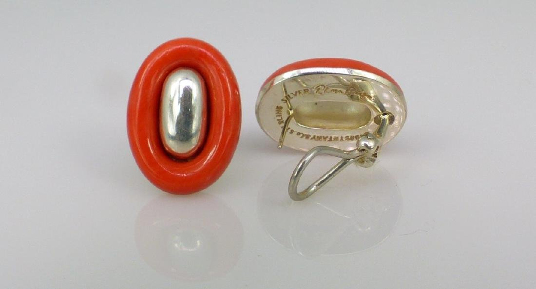 PALOMA PICCASO FOR TIFFANY STERLING CORAL EARRINGS - 2
