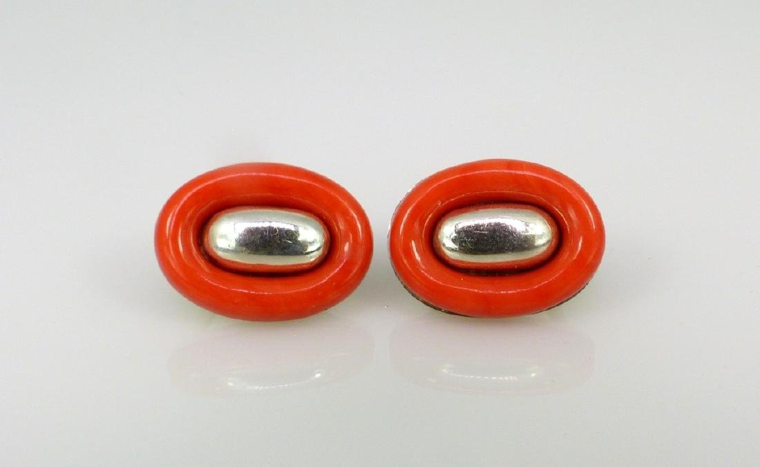 PALOMA PICCASO FOR TIFFANY STERLING CORAL EARRINGS - 6
