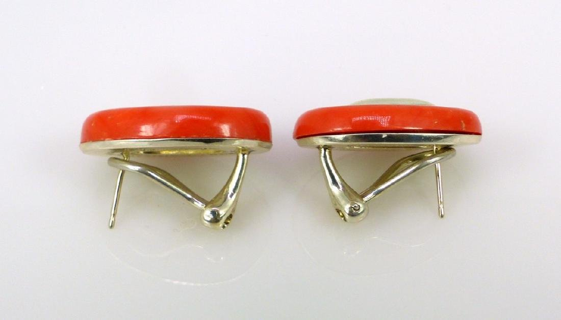 PALOMA PICCASO FOR TIFFANY STERLING CORAL EARRINGS - 7