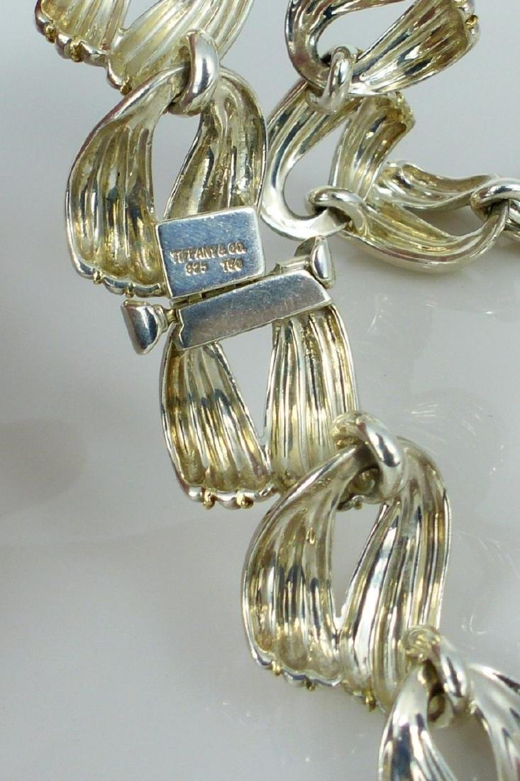 3pc TIFFANY & CO STERLING & YELLOW GOLD SUITE - 3