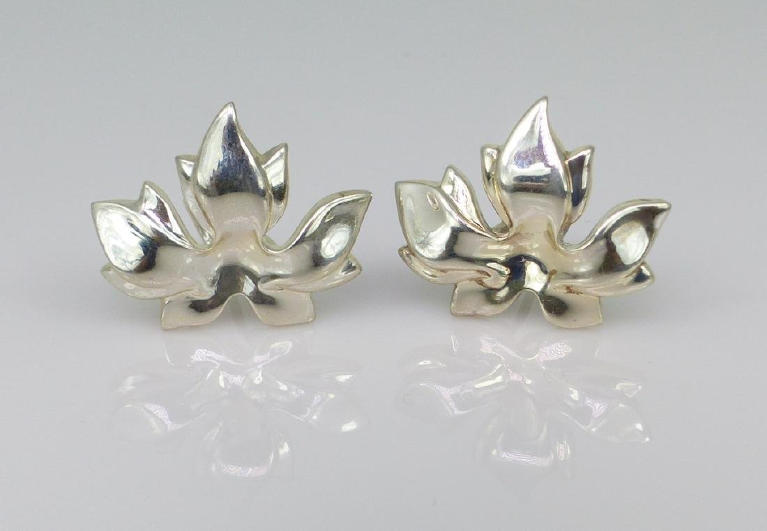 3pc TIFFANY & CO STERLING SILVER LEAF SUITE - 2
