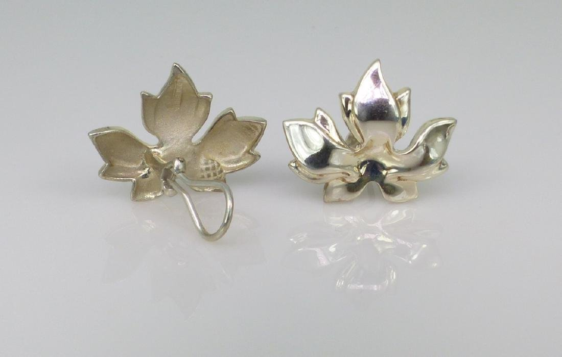3pc TIFFANY & CO STERLING SILVER LEAF SUITE - 3