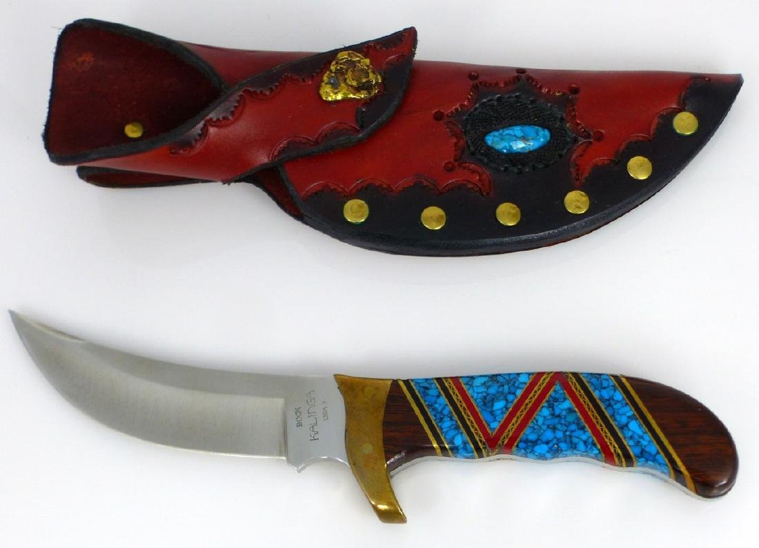 DAVID YELLOWHORSE BUCK KALINGA KNIFE w SHEATH - 5