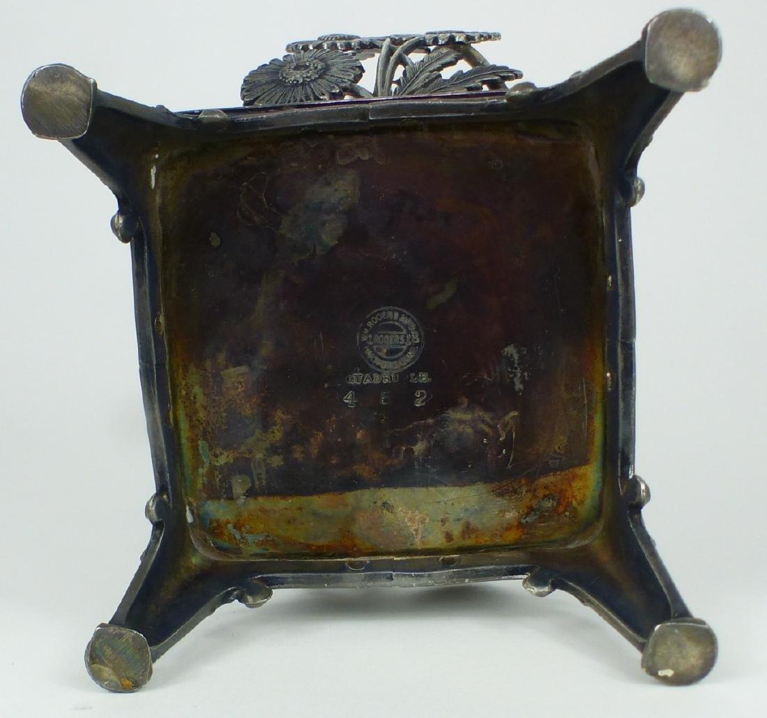 VICTORIAN ENAMELED GLASS PICKLE CASTOR - 6