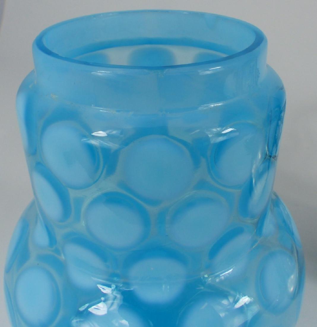 VICTORIAN COINSPOT GLASS PICKLE CASTOR - 7