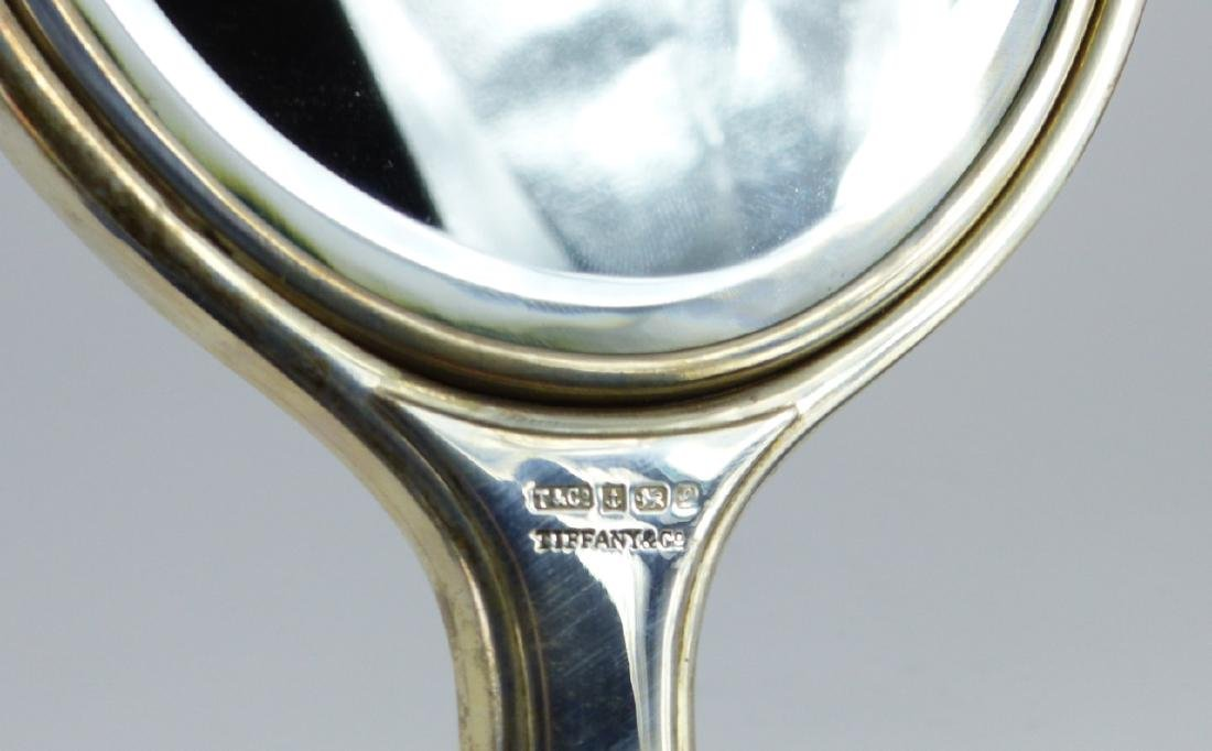 TIFFANY & CO STERLING SILVER HAND MIRROR - 4