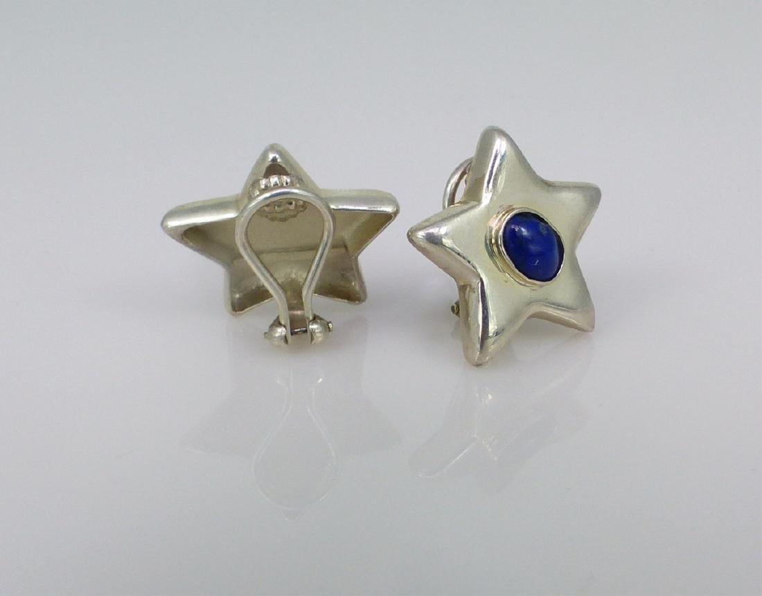 PR TIFFANY STERLING SILVER & LAPIS STAR EARRINGS - 3