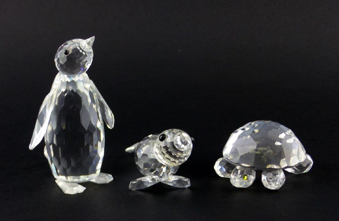 3pc SWAROVSKI CRYSTAL MARINE ANIMAL FIGURINES
