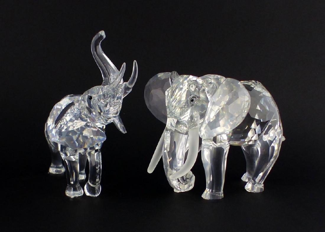 2pc SWAROVSKI CRYSTAL ELEPHANT FIGURES