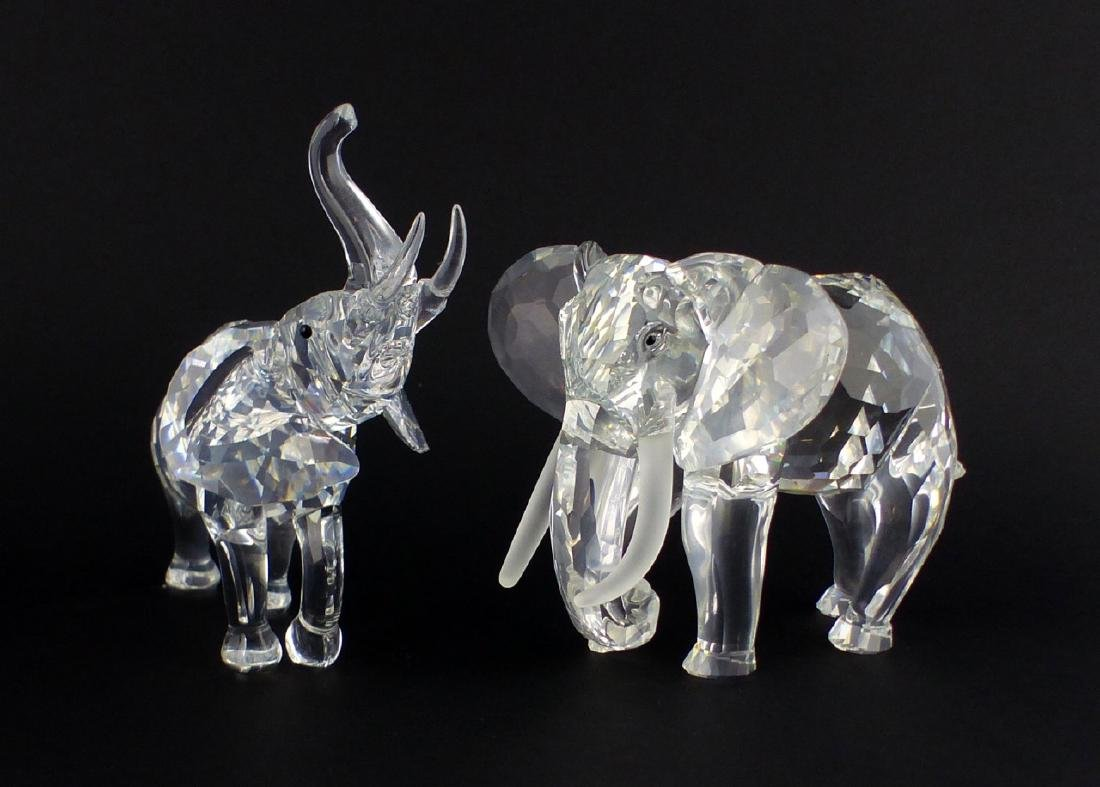 2pc SWAROVSKI CRYSTAL ELEPHANT FIGURES